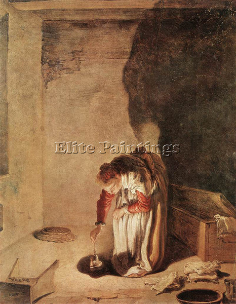 GUERCINO  PARABLE OF THE LOST DRACHMA ARTIST PAINTING REPRODUCTION HANDMADE OIL
