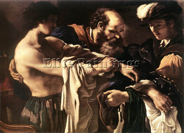 GUERCINO  RETURN OF THE PRODIGAL SON ARTIST PAINTING REPRODUCTION HANDMADE OIL