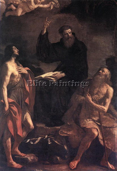 GUERCINO  ST AUGUSTINE ST JOHN THE BAPTIST AND ST PAUL THE HERMIT ARTIST CANVAS