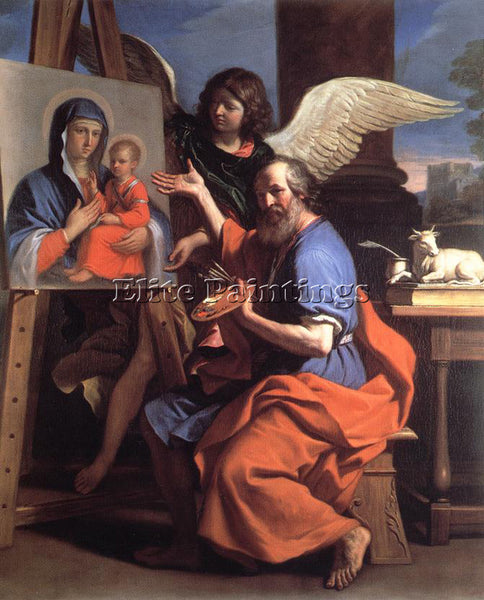 GUERCINO  ST LUKE DISPLAYING A PAINTING OF THE VIRGIN ARTIST PAINTING HANDMADE