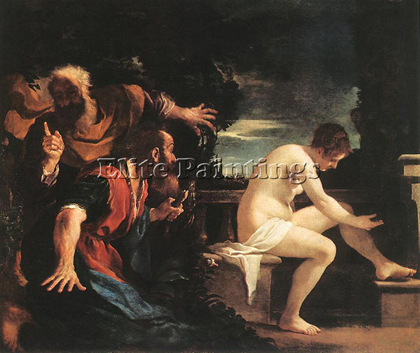 GUERCINO  SUSANNA AND THE ELDERS ARTIST PAINTING REPRODUCTION HANDMADE OIL REPRO