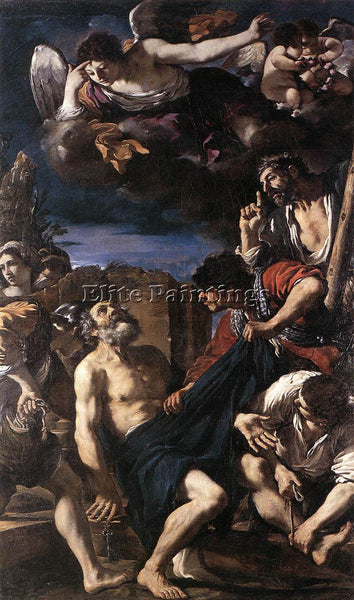 GUERCINO  THE MARTYRDOM OF ST PETER ARTIST PAINTING REPRODUCTION HANDMADE OIL