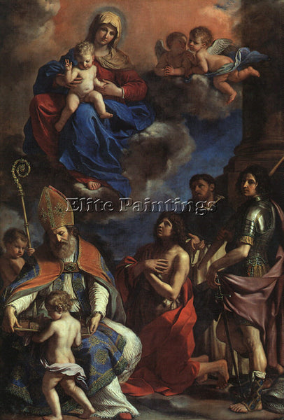 GUERCINO  THE PATRON SAINTS OF MODENA ARTIST PAINTING REPRODUCTION HANDMADE OIL