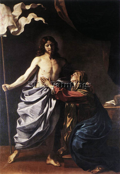 GUERCINO  THE RESURRECTED CHRIST APPEARS TO THE VIRGIN ARTIST PAINTING HANDMADE