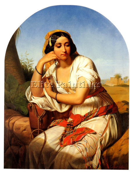 GUFFENS GODFRIED BEDOUIN CHIEFTAIN AND BEDOUIN WOMAN PAIR PAINTINGS 2 ARTIST OIL