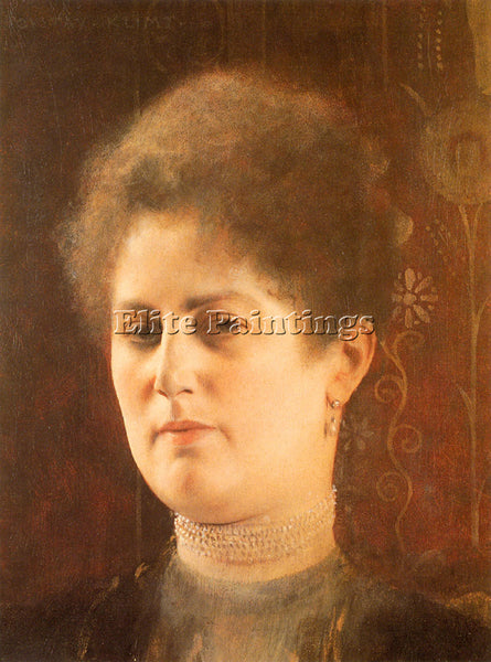 GUSTAV KLIMT PORTRAIT OF A LADY 1 ARTIST PAINTING REPRODUCTION HANDMADE OIL DECO