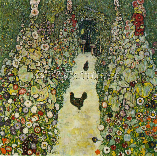 GUSTAV KLIMT  CHICKENS ARTIST PAINTING REPRODUCTION HANDMADE CANVAS REPRO WALL