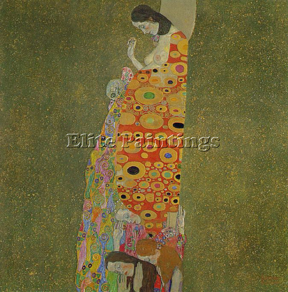 GUSTAV KLIMT  HOPE2 ARTIST PAINTING REPRODUCTION HANDMADE CANVAS REPRO WALL DECO