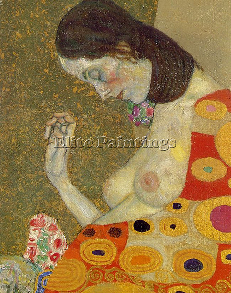 GUSTAV KLIMT  HOPE2 DTL ARTIST PAINTING REPRODUCTION HANDMADE CANVAS REPRO WALL