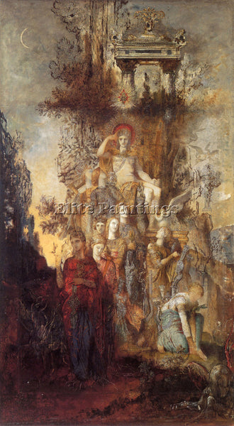 GUSTAVE MOREAU THE MUSES LEAVING THEIR FATHER APOLLO TO GO ARTIST PAINTING REPRO