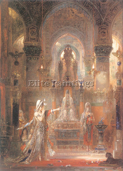 GUSTAVE MOREAU GM14 ARTIST PAINTING REPRODUCTION HANDMADE CANVAS REPRO WALL DECO
