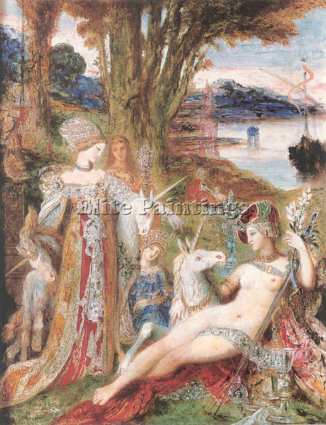 GUSTAVE MOREAU GM21 ARTIST PAINTING REPRODUCTION HANDMADE CANVAS REPRO WALL DECO
