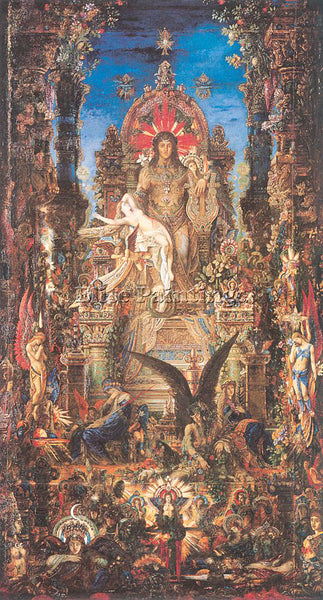 GUSTAVE MOREAU GM22 ARTIST PAINTING REPRODUCTION HANDMADE CANVAS REPRO WALL DECO