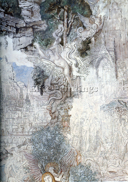 GUSTAVE MOREAU THE CHIMERAS DETAIL ARTIST PAINTING REPRODUCTION HANDMADE OIL ART