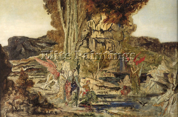 GUSTAVE MOREAU THE PIERIDES ARTIST PAINTING REPRODUCTION HANDMADE OIL CANVAS ART