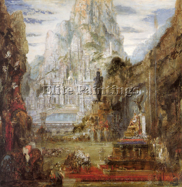 GUSTAVE MOREAU THE TRIUMPH OF ALEXANDER THE GREAT ARTIST PAINTING REPRODUCTION