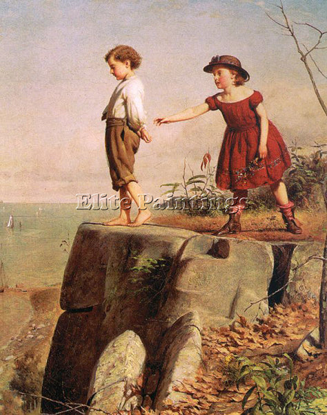 AMERICAN GUY SEYMOUR JOSEPH AMERICAN 1824 1910 ARTIST PAINTING REPRODUCTION OIL