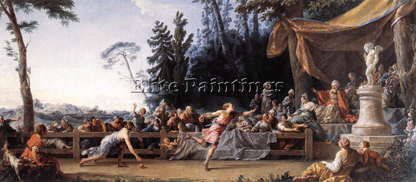 FRENCH HALLE NOEL THE RACE BETWEEN HIPPOMENES AND ATALANTA ARTIST PAINTING REPRO