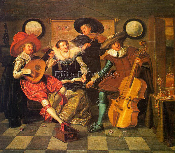 DIRCK HALS MUSICIANS ARTIST PAINTING REPRODUCTION HANDMADE OIL CANVAS REPRO WALL