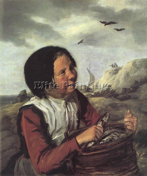 FRANS HALS FISHER GIRL ARTIST PAINTING REPRODUCTION HANDMADE CANVAS REPRO WALL