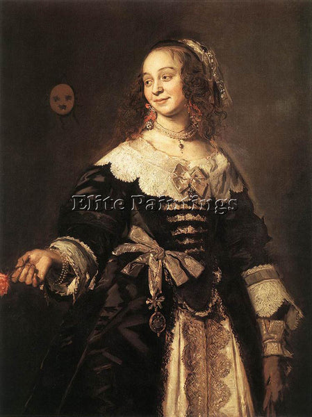 FRANS HALS ISABELLA COYMANS ARTIST PAINTING REPRODUCTION HANDMADE OIL CANVAS ART