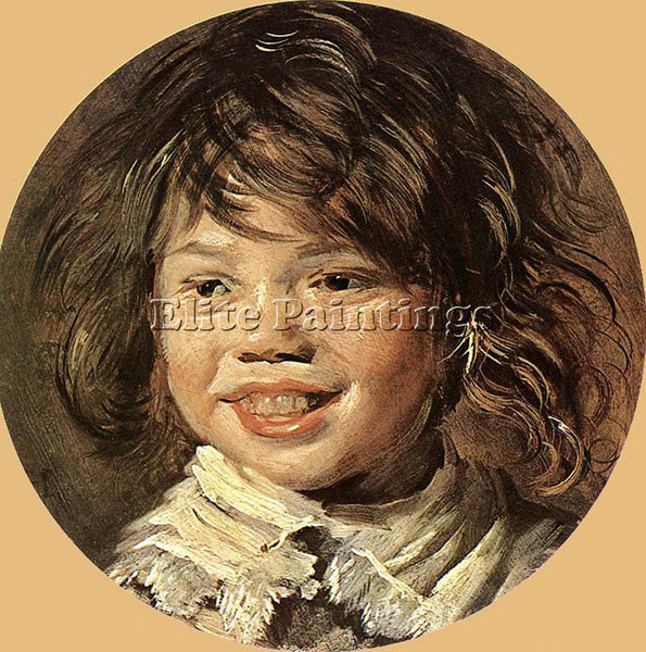 FRANS HALS LAUGHING CHILD ARTIST PAINTING REPRODUCTION HANDMADE OIL CANVAS REPRO