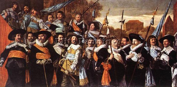 FRANS HALS OFFICERS AND SERGEANTS OF THE ST HADRIAN CIVIC GUARD 1639 OIL CANVAS