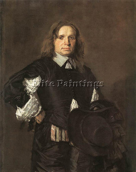 FRANS HALS PORTRAIT OF A MAN 1650 ARTIST PAINTING REPRODUCTION HANDMADE OIL DECO