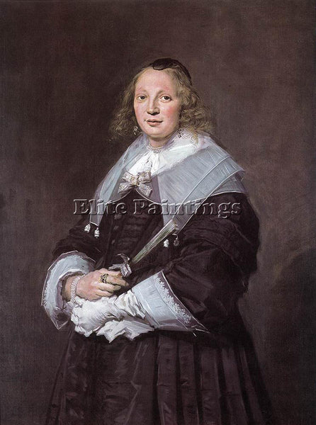 FRANS HALS PORTRAIT OF A STANDING WOMAN ARTIST PAINTING REPRODUCTION HANDMADE