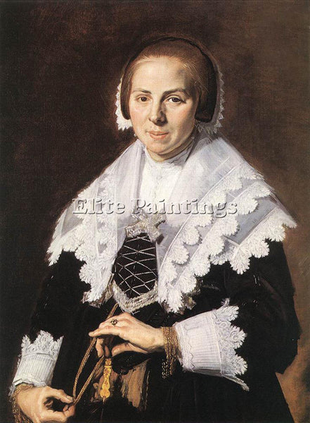 FRANS HALS PORTRAIT OF A WOMAN HOLDING A FAN ARTIST PAINTING HANDMADE OIL CANVAS