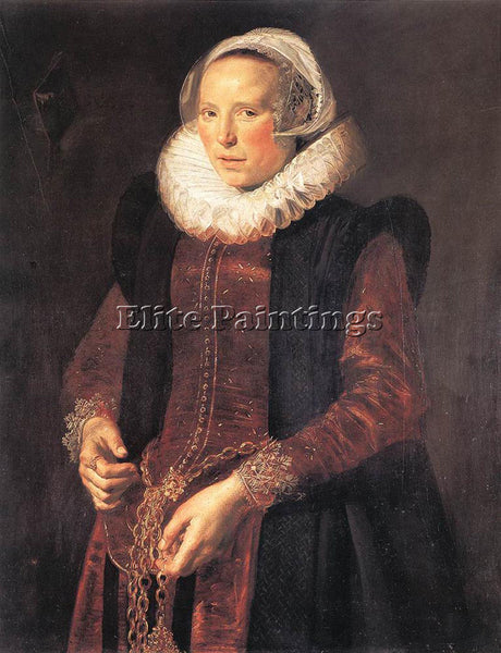 FRANS HALS PORTRAIT OF A WOMAN ARTIST PAINTING REPRODUCTION HANDMADE OIL CANVAS