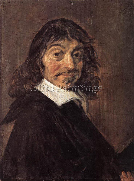 FRANS HALS RENE DESCARTES ARTIST PAINTING REPRODUCTION HANDMADE OIL CANVAS REPRO