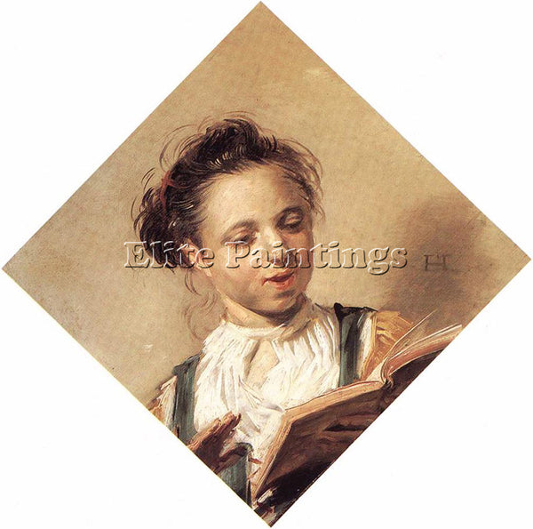 FRANS HALS SINGING GIRL ARTIST PAINTING REPRODUCTION HANDMADE CANVAS REPRO WALL