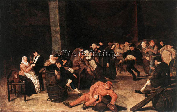 FRANS HALS HALS HARMEN PEASANTS AT A WEDDING FEAST ARTIST PAINTING REPRODUCTION