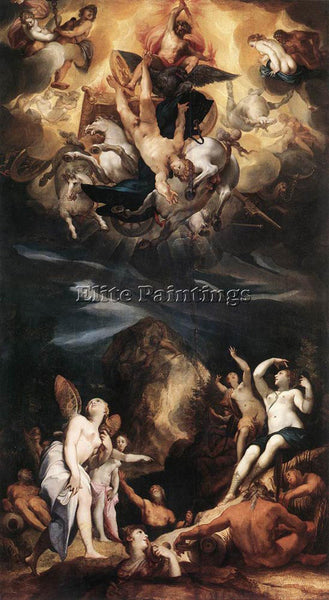 JOSEPH HEINTZ THE ELDER THE FALL OF PHAETON ARTIST PAINTING HANDMADE OIL CANVAS