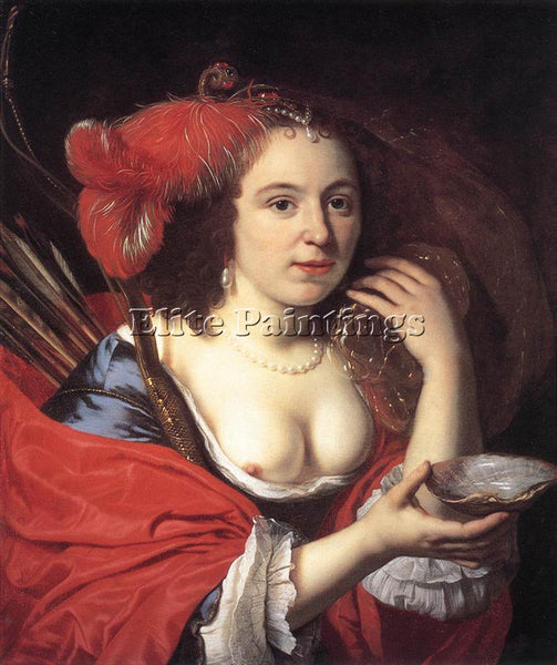 BARTHOLOMEUS VAN DER HELST ANNA DU PIRE AS GRANIDA ARTIST PAINTING REPRODUCTION