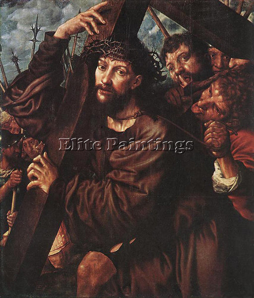 JAN SANDERS VAN HEMESSEN CHRIST CARRYING THE CROSS ARTIST PAINTING REPRODUCTION