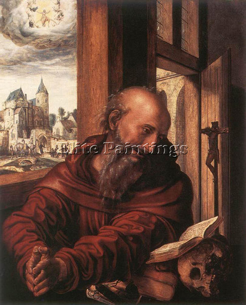 JAN SANDERS VAN HEMESSEN ST JEROME ARTIST PAINTING REPRODUCTION HANDMADE OIL ART