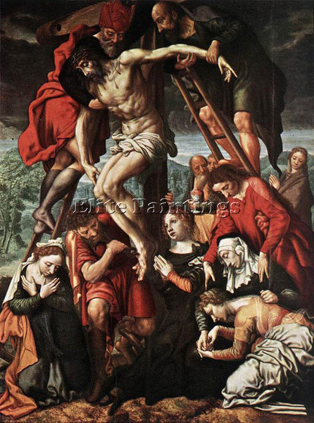 JAN SANDERS VAN HEMESSEN THE DESCENT FROM THE CROSS ARTIST PAINTING REPRODUCTION