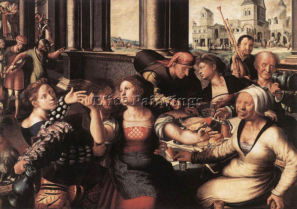 JAN SANDERS VAN HEMESSEN THE PRODIGAL SON ARTIST PAINTING REPRODUCTION HANDMADE