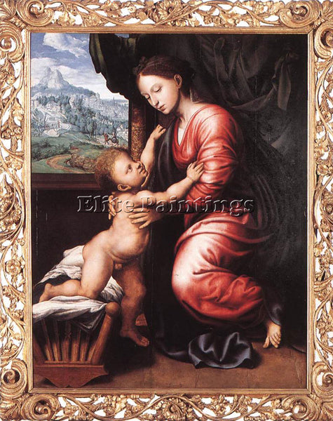 JAN SANDERS VAN HEMESSEN VIRGIN AND CHILD ARTIST PAINTING REPRODUCTION HANDMADE