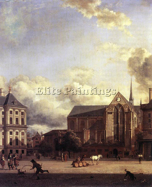 JAN VAN DER HEYDEN DAM SQUARE AMSTERDAM ARTIST PAINTING REPRODUCTION HANDMADE