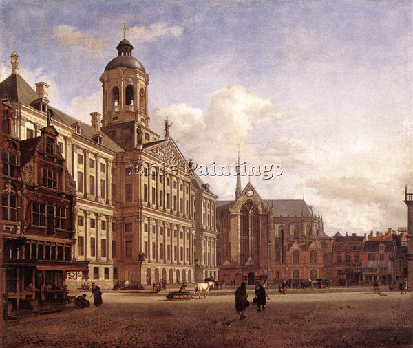 JAN VAN DER HEYDEN THE NEW TOWN HALL IN AMSTERDAM ARTIST PAINTING REPRODUCTION