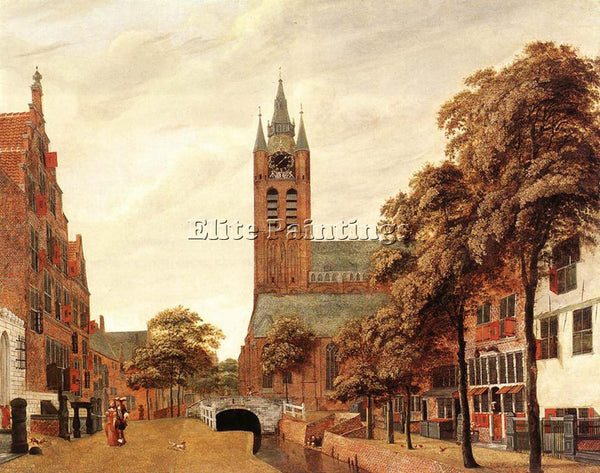 JAN VAN DER HEYDEN VIEW OF DELFT ARTIST PAINTING REPRODUCTION HANDMADE OIL REPRO