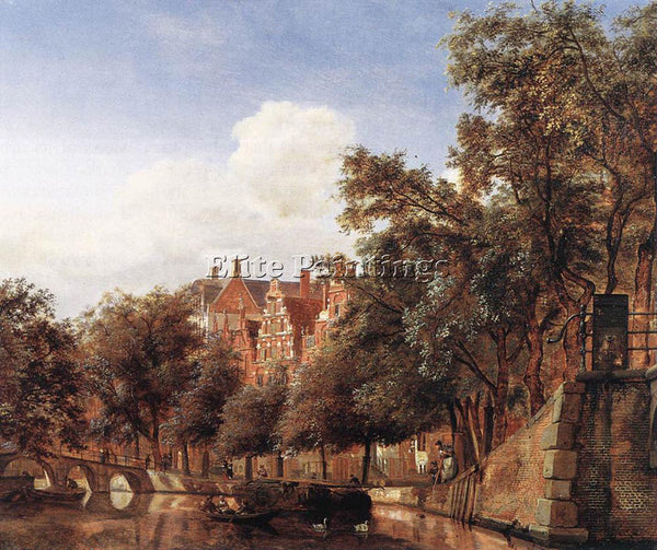 JAN VAN DER HEYDEN VIEW OF THE HERENGRACHT AMSTERDAM ARTIST PAINTING HANDMADE