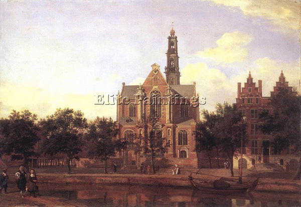 JAN VAN DER HEYDEN VIEW OF THE WESTERKERK AMSTERDAM 1670 ARTIST PAINTING CANVAS