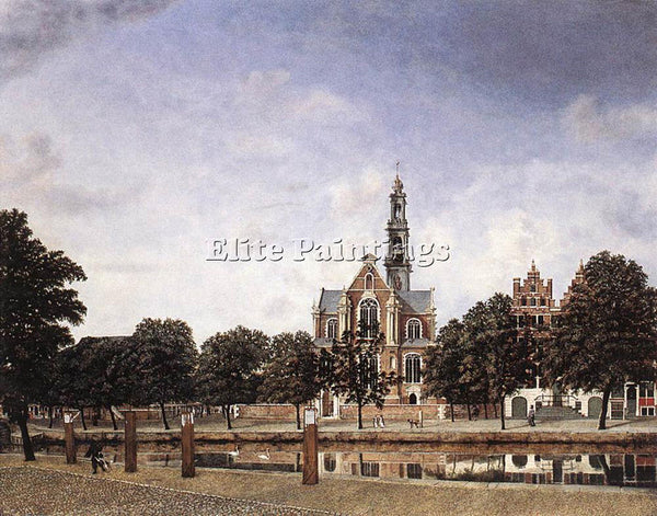 JAN VAN DER HEYDEN VIEW OF THE WESTERKERK AMSTERDAM ARTIST PAINTING REPRODUCTION