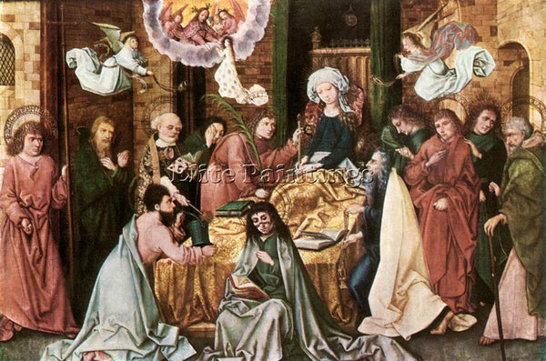 HANS HOLBEIN THE ELDER THE ELDER DEATH OF THE VIRGIN ARTIST PAINTING HANDMADE