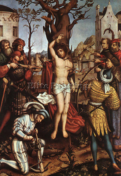 HANS HOLBEIN THE ELDER THE ELDER THE MARTYRDOM OF SAINT SEBASTIAN ARTIST CANVAS