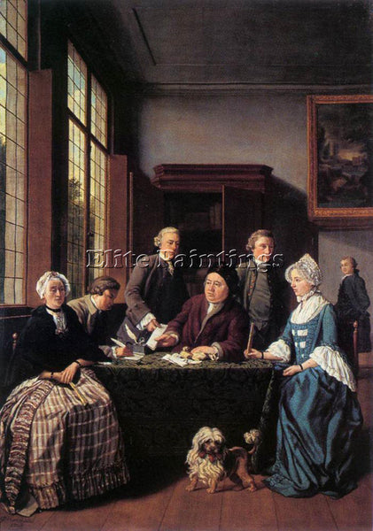 BELGIAN HOREMANS JAN JOZEF II THE MARRIAGE CONTRACT ARTIST PAINTING REPRODUCTION